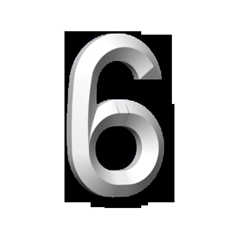 """#6 6"""" CHIFFRE"""