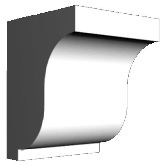 BLOC DENTELLE 5''x6 3/8''x4 3/4''