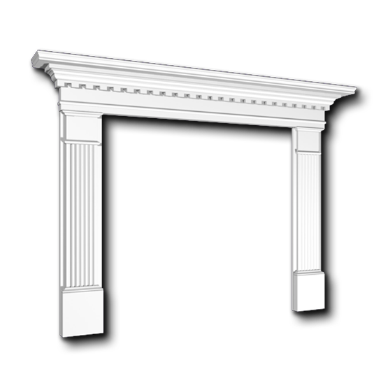 Fireplace mantels and niches